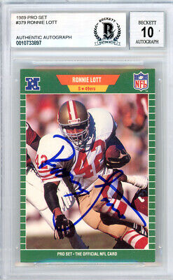 6d4c75aa RONNIE LOTT AUTOGRAPHED Signed 1988 Topps Card #51 49ers Beckett ...