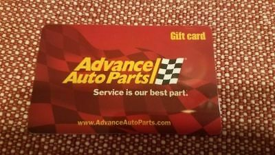 Advanced Auto Parts Gift Card -$10 value mail delivery