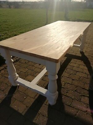 french country pine refectory table ~stunning french style Dining Table seats 8