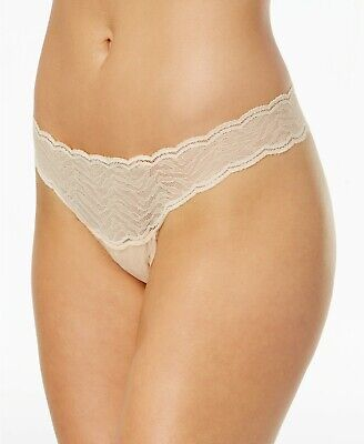 c670123182f5 Cosabella Women's Sweet Treats Zebra Lace Thong Panties Nude One Size NEW  $35