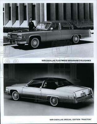 1978 Press Photo The 1979 Cadillac Fleetwood Brougham D'Elegance and Phaeton