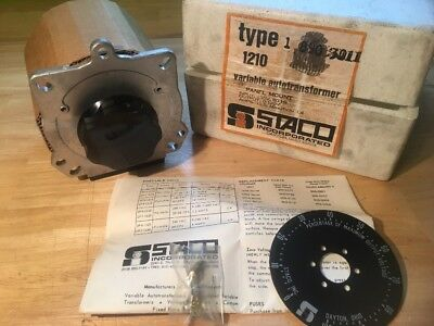 Variable Transformer Staco model 1210 NEW OLD STOCK IN ORIGINAL PACKAGING 0-120v
