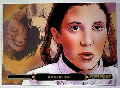 2015 Star Wars ESB Illustrated Card #96 Gold Parallel Serial Numbered 08/10