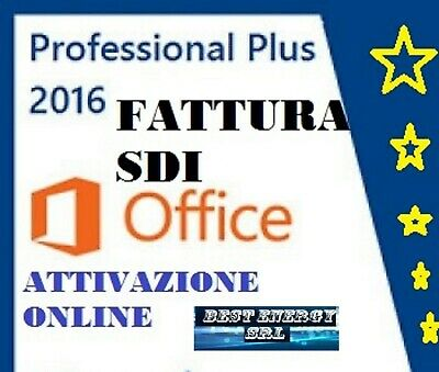 Microsoft Office  2016 Professional Plus - FATTURA SDI , AZIENDA ITALIANA  TOP