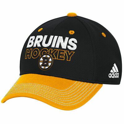 newest 824fc 099d6 Boston Bruins Adidas NHL Locker Room Flex Fit Cap Hat Hockey Authentic  Men s B s