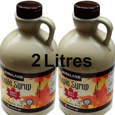 100% PURE Maple Syrup Grade A Amber No Additives Product Of Canada - 2 Litres