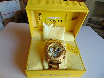 Invicta 50mm Australian Pro Diver Chronograph 18K Ion-Plated Gold SS Watch L@@K!