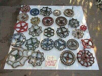 26 old  HEAVY IRON  Water Faucet Knobs Valve Handles STEAMPUNK Industrial  Iron