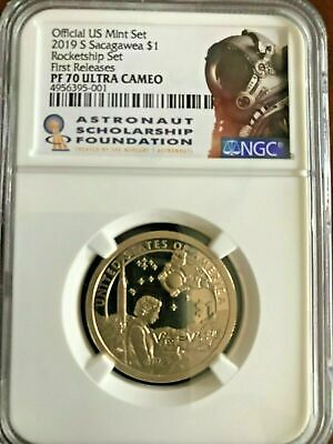 2019 S Sacagawea PROOF $1 NGC PF 70 UC ROCKETSHIP First Releases 50.000 MINTED