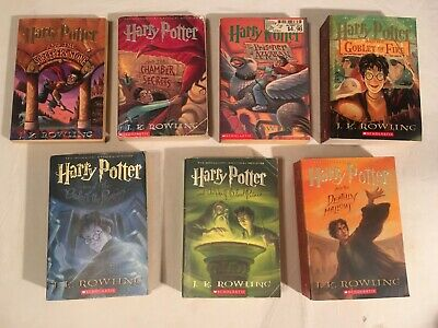 Lot HARRY POTTER chapter J K ROWLING 1-7 lot of 7