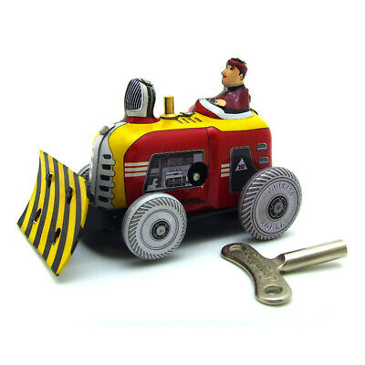 Tiny Soil Shifter Wind-up Tin Toy Hand-Made Vintage Decoration Adult Collection
