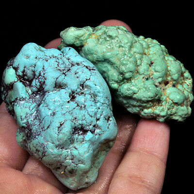 405.7Ct 100% Natural Brain Turquoise Nugget Intact Specimen YSTc1394