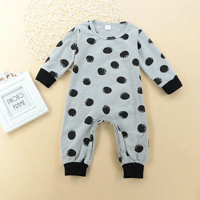 Newborn Infant Baby Girl Romper Bodysuit Jumpsuit Outfits Sunsuit Clothes