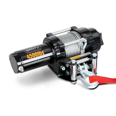 NEW 4500LBS Electric Winch ATV 4WD Steel Wire w/ Remote User Manual