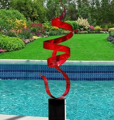Statements2000 Metal Sculpture Large Abstract Red Yard Art Decor by Jon Allen