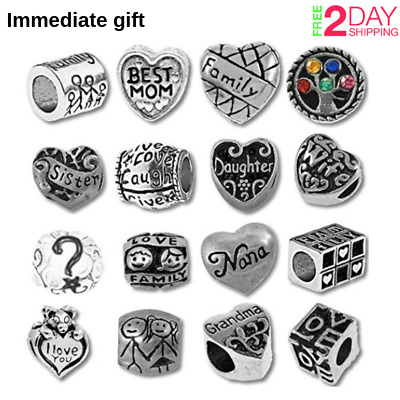 Authentic Pandora Charms15 of Assorted love Crystal Rhinestone Beads and Spacers
