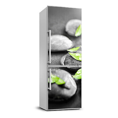 3D  Refrigerator Kitchen Removable Sticker Flowers Leaves of Zen stones