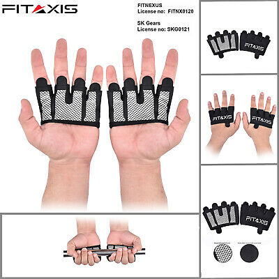 Sports Fitness Crossfit Palm Gloves Hand Protector Gymnastic Grip Weight Lifting
