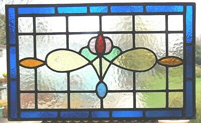 Original  Fully Restored Stained Glass Panel - Ref Sg362