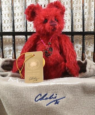 Rare Charlie Bears Minimo Isabelle Lee LE Bear~ Cocktail Collection ~ Cherry