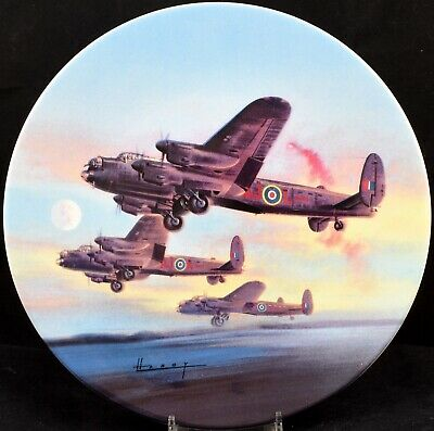 Royal Worcester Dambusters Plane Plate The Take Off