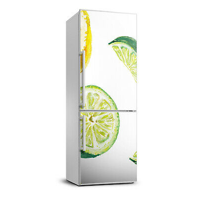 3D  Refrigerator Self Adhesive Removable Sticker Decal Food Lime and lemon
