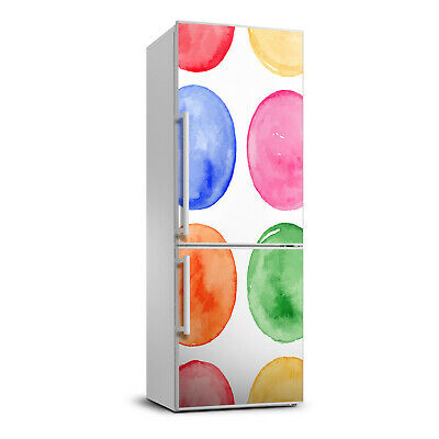 Magnet Sticker Refrigerator removable Peel & Stick Decal Colorful circles