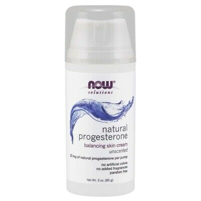 NOW Foods Natural Progesterone Balancing Skin Cream Unscented 3 oz (85g) pump