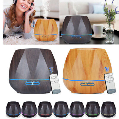 500ml LED Ultrasonic Essential Oil Aromatherapy Diffuser Air Humidifier Purifier