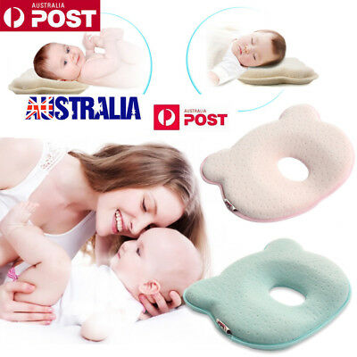 Baby Infant Cot Pillow Preventing Flat Head Neck Syndrome for newborn Girl Boy C
