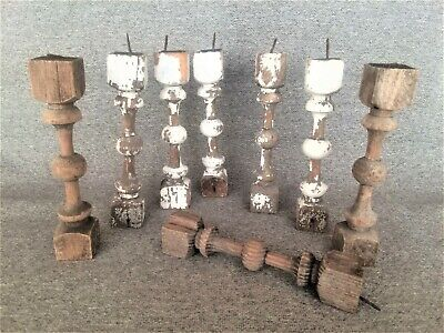 Vintage Architectural Salvage 8 Wood Spindles Furniture Repurpose Free Shipping