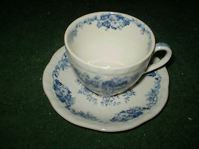 Alfred E Meakin Salisbury Cup And Saucer Set Blue England