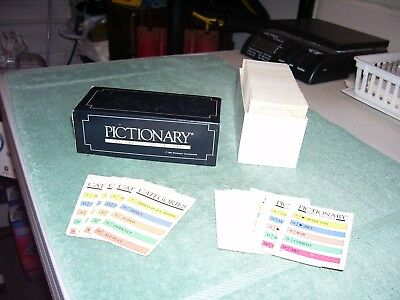 Complete Set of Replacement Cards ONLY Vintage Pictionary First Edition Cards