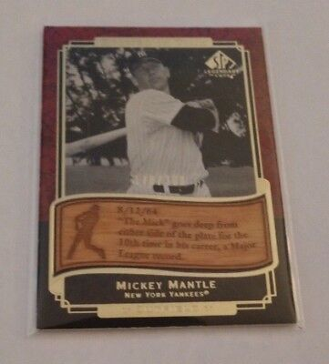 Mickey Mantle - 2003 Sp Legendary Cuts - Etched In Time - #Et-Mm - #170/300 -