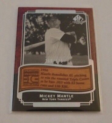 Mickey Mantle - 2003 Sp Legendary Cuts - Etched In Time - #Et-Mm - #169/175 -
