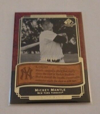 Mickey Mantle - 2003 Sp Legendary Cuts - Etched In Time - #Et-Mm - #360/400 -