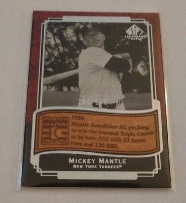 Mickey Mantle - 2003 Sp Legendary Cuts - Etched In Time - #Et-Mm - #104/175 -