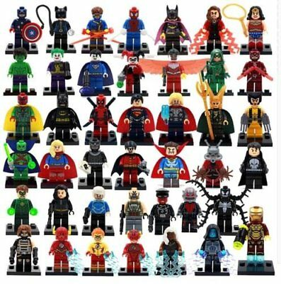 figurines marvel dc comics figures blocks iron man spiderman compatible lego