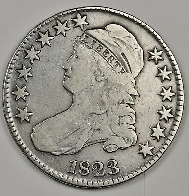 1823 Bust Half.  Many Varieties.  About V.F.  125741