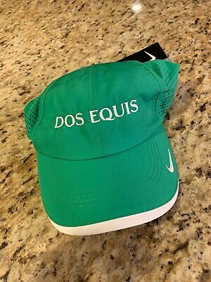 Nike Dri-Fit New Swoosh Unisex Green Dos Equis Hat Cap New Golf Adult
