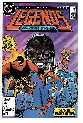 LEGENDS #1, 1st app. AMANDA WALLER, BRIMSTONE, DC Comics (1986)