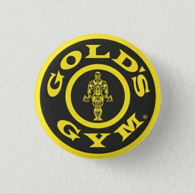 Chapa Pin Badge Button Brooch GOLD'S GYM BODY BUILDING CULTURISMO