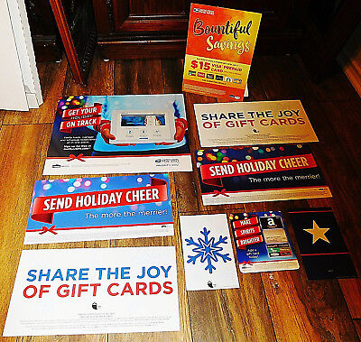 9 LOT USPS United States Postal Service Post Office Advertising Sign Holiday