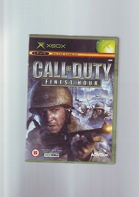 Call Of Duty : Finest Hour - Xbox Game / 360 Compatible- Original & Complete Vgc