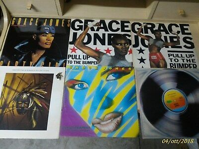 Disco Lp vinile mix 12 Grace Jones lotto blocco stock