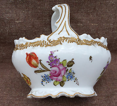 Flowered Basket Hand Painted Gilt Porcelain Coiffe Limoges France 1880