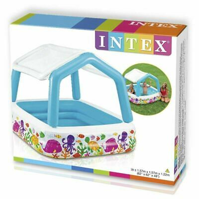 "62"" Intex Inflatable Sun Shade Paddling Swimming Pool Kids Garden Summer Toy"