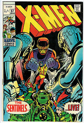 THE X-MEN ISSUE NUMBER 57 BY MARVEL COMICS fn/vfn