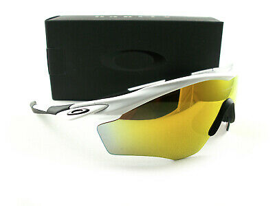 29ded88cd3 Oakley M2 Frame XL Sunglasses Polished White Fire Iridium Mirrored 9343-05  New