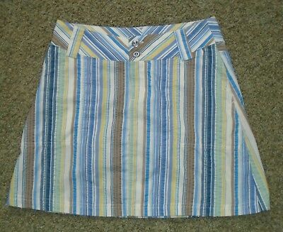 bd8ee2d197 Patagonia Women's Size 2 Multicolored Striped Organic Cotton Seersucker  Skirt